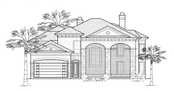 Mediterranean House Plan 61764 Elevation