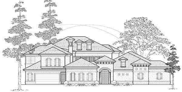 Mediterranean House Plan 61765 Elevation