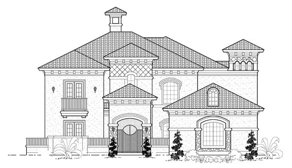 Mediterranean House Plan 61777 Elevation
