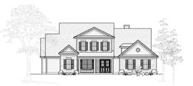 Country House Plan 61779 Elevation