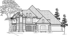 European House Plan 61784 Elevation