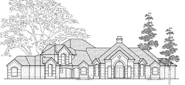 European House Plan 61786 Elevation