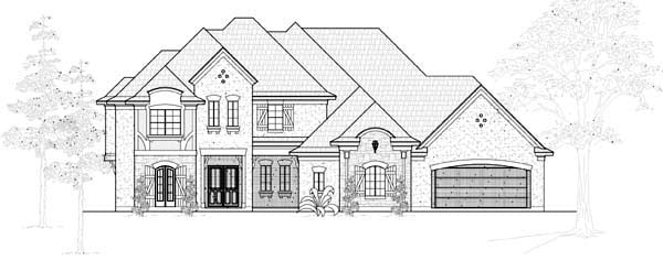 European House Plan 61787 Elevation