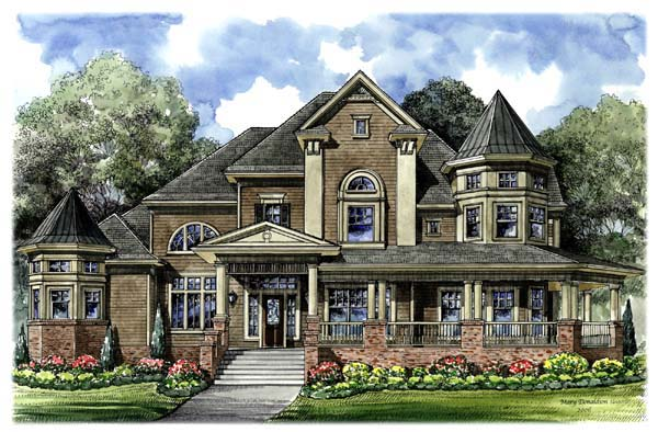 Victorian House Plan 61794 Elevation