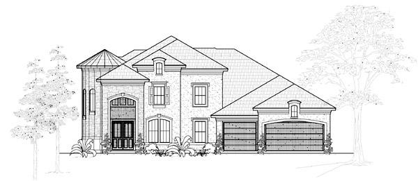 Mediterranean House Plan 61797 Elevation