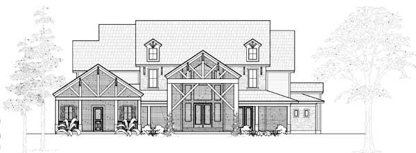 Farmhouse House Plan 61807 Elevation