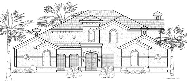 Mediterranean House Plan 61811 Elevation