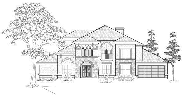Mediterranean House Plan 61814 Elevation