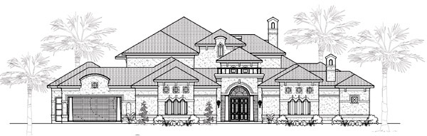 Traditional House Plan 61815 Elevation