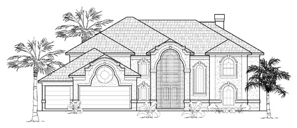 Mediterranean House Plan 61817 Elevation