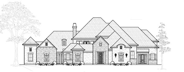 Victorian House Plan 61824 with 4 Beds, 5 Baths, 3 Car Garage Elevation