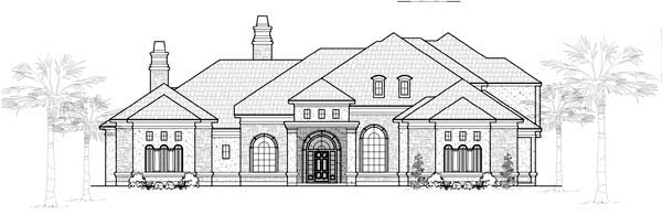 European House Plan 61825 Elevation