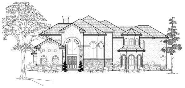 Mediterranean House Plan 61827 Elevation