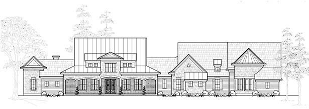 Farmhouse House Plan 61828 Elevation