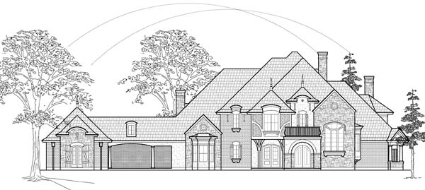 European House Plan 61835 Elevation