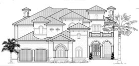 Plan Number 61886 - 6907 Square Feet