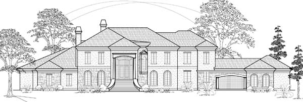 Colonial House Plan 61889 with 4 Beds, 5 Baths, 4 Car Garage Elevation