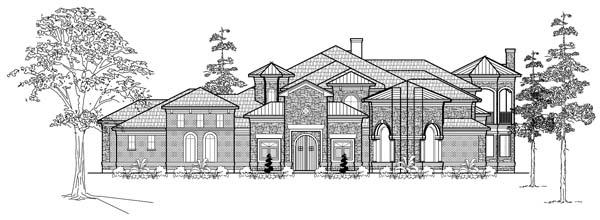 Mediterranean House Plan 61891 with 3 Beds, 4 Baths, 5 Car Garage Elevation