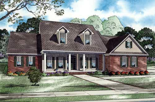 Country, Southern House Plan 62006 with 3 Beds, 5 Baths, 2 Car Garage Elevation