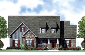 Colonial House Plan 62009 Elevation