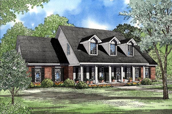 Cape Cod Country House Plan 62010 Elevation