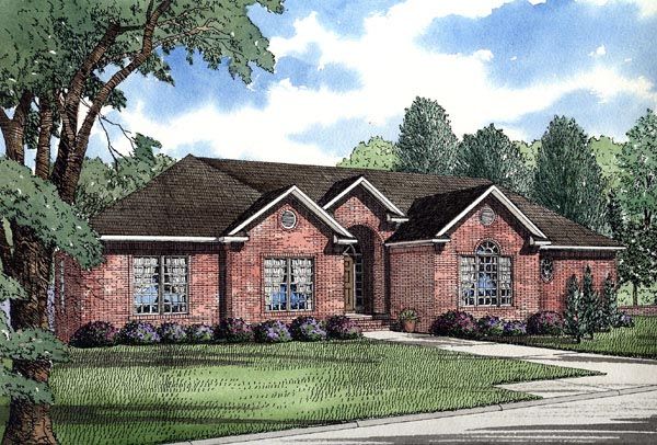 European Traditional House Plan 62011 Elevation