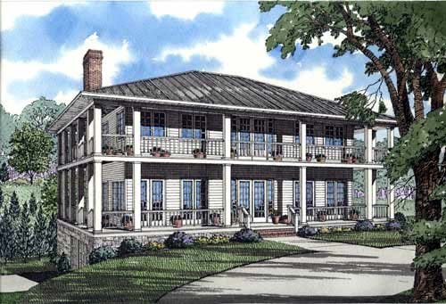 Colonial Southern House Plan 62012 Elevation