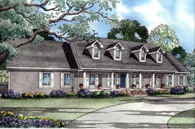 Southern , Country House Plan 62014 with 4 Beds, 4 Baths, 2 Car Garage Elevation