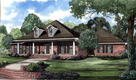 Southern House Plan 62016 with 4 Beds, 5 Baths, 3 Car Garage Elevation