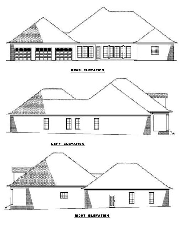 Southern House Plan 62016 Rear Elevation