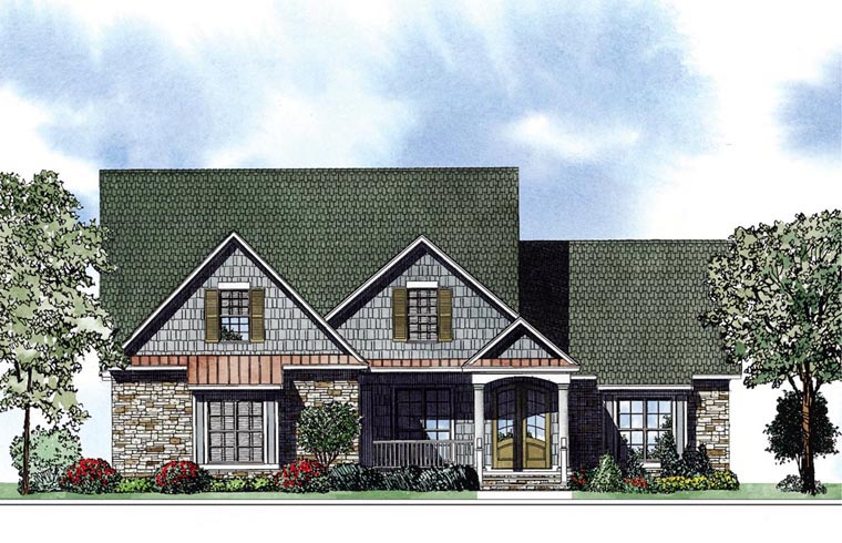 Colonial House Plan 62018 Elevation