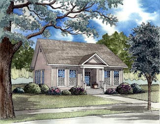 Bungalow Colonial Country Ranch Southern House Plan 62021 Elevation