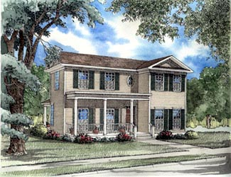 Colonial Southern House Plan 62026 Elevation