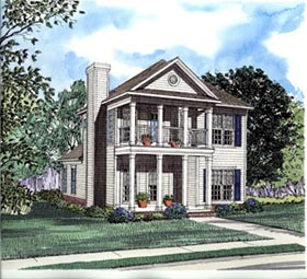 Colonial Southern House Plan 62028 Elevation