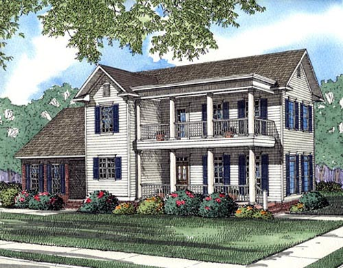 Colonial Southern House Plan 62029 Elevation