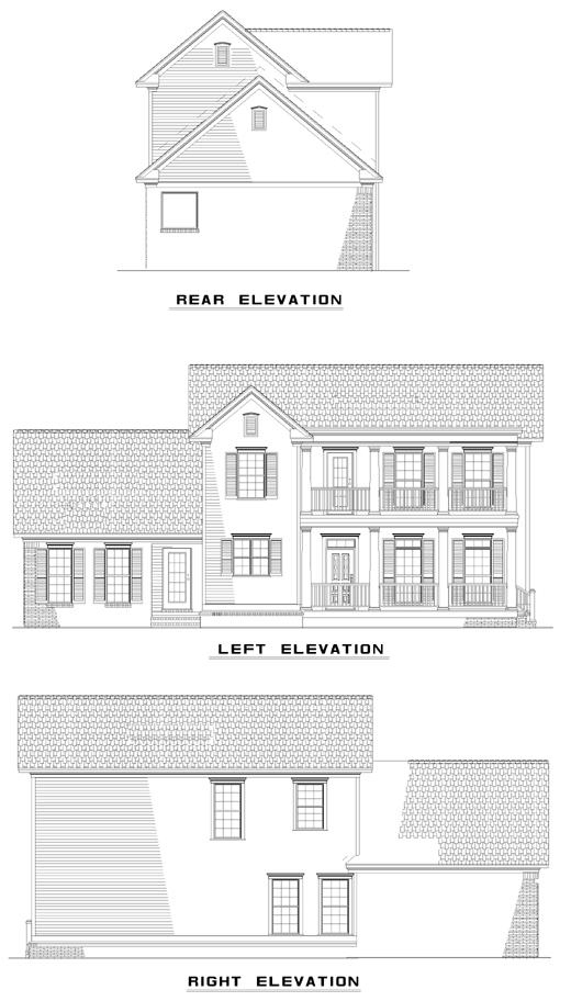 Colonial Southern House Plan 62029 Rear Elevation
