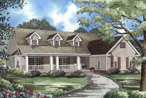 Cape Cod Country Traditional House Plan 62031 Elevation