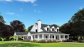 Country Farmhouse Southern House Plan 62032 Elevation