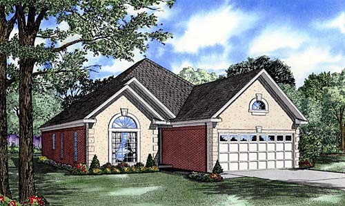 European House Plan 62035 Elevation