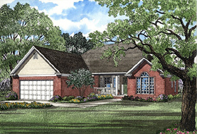 European Traditional House Plan 62036 Elevation