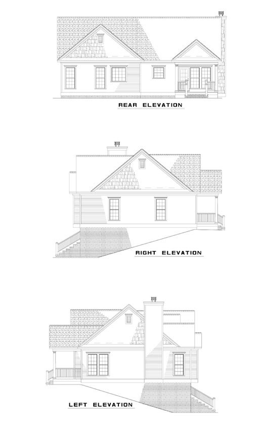 House Plan 62038 Rear Elevation