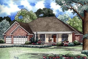 European House Plan 62042 Elevation