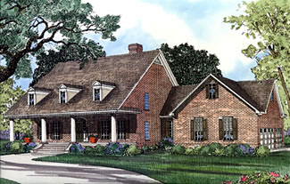 Cape Cod House Plan 62045 with 4 Beds, 4 Baths, 3 Car Garage Elevation