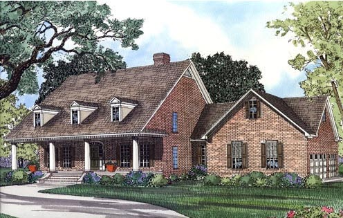 Cape Cod House Plan 62045 with 4 Beds, 4 Baths, 3 Car Garage Front Elevation