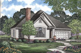 European Traditional House Plan 62050 Elevation