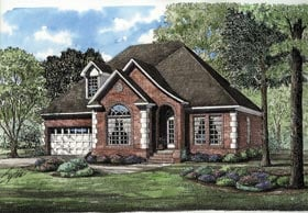 European House Plan 62052 with 3 Beds, 3 Baths Elevation