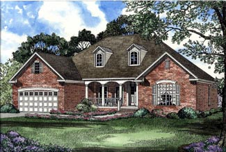 Traditional House Plan 62056 Elevation