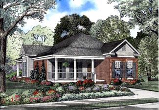 Country Traditional House Plan 62058 Elevation