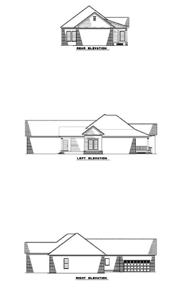 Country Traditional House Plan 62058 Rear Elevation