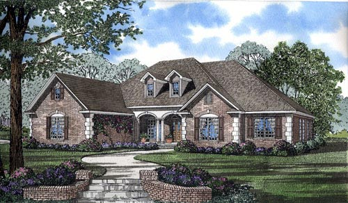 European Traditional House Plan 62061 Elevation